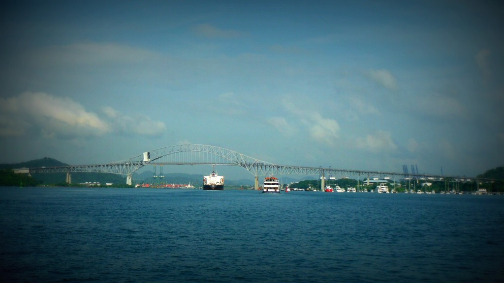 Bridge of the Americas Panama Canal transiting the Panama Canal by sailboat