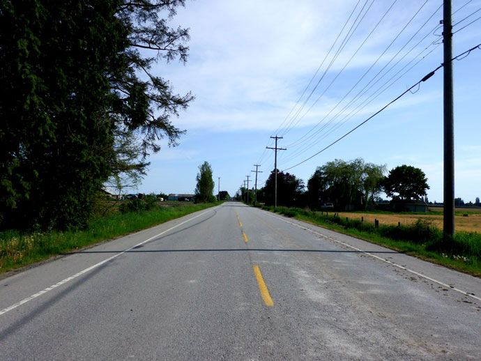 64th Street Bicycle Route to Tsawwassen Ferry Terminal