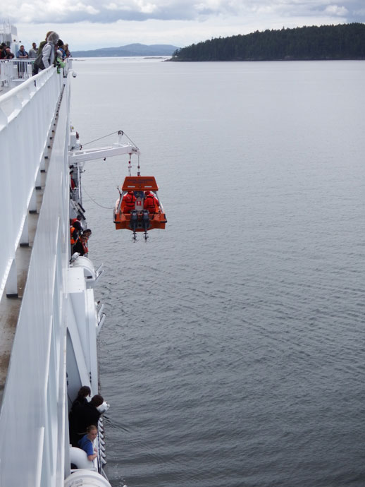 Man overboard drill on BC Ferries