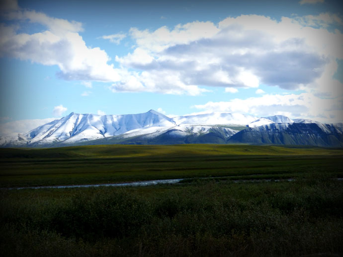 Snow Capped Peaks of the Brooks Range from the Dalton Highway